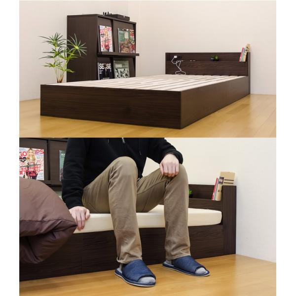 コンセント付きシングルローベッドすのこベッド|himalaya|04