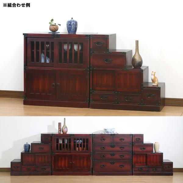民芸和家具 茶箪笥 水屋    完成品 和風家具 チェスト ディスプレイラック|himalaya|02