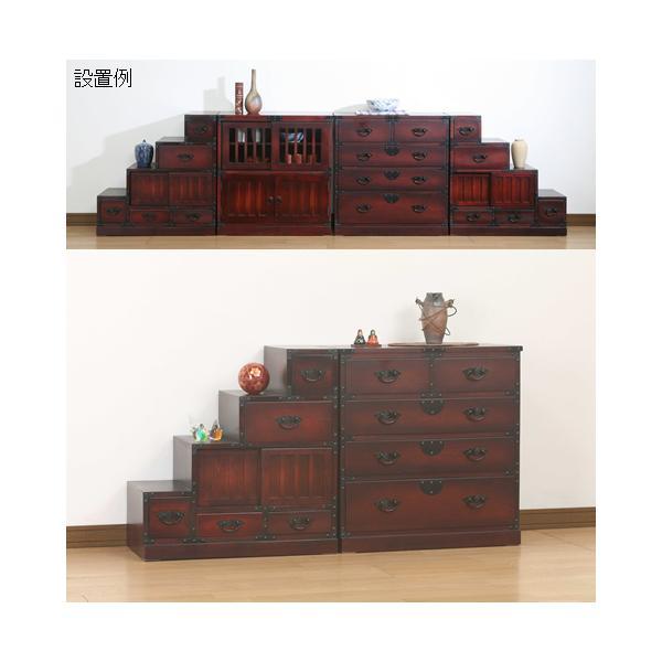 民芸和家具 引出箪笥 和風家具チェストキャビネッ たんす 収納 himalaya 03