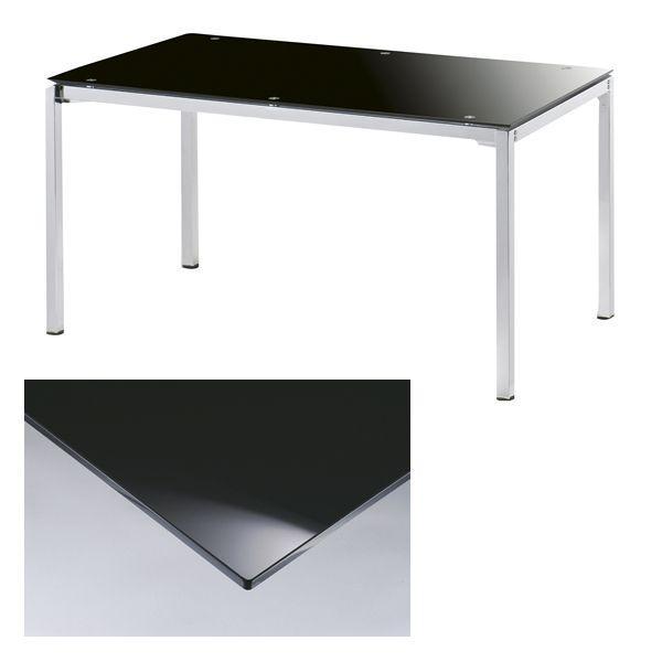 オニキスブラック ダイニングテーブル 135×75  ※テーブルのみ|himalaya|02