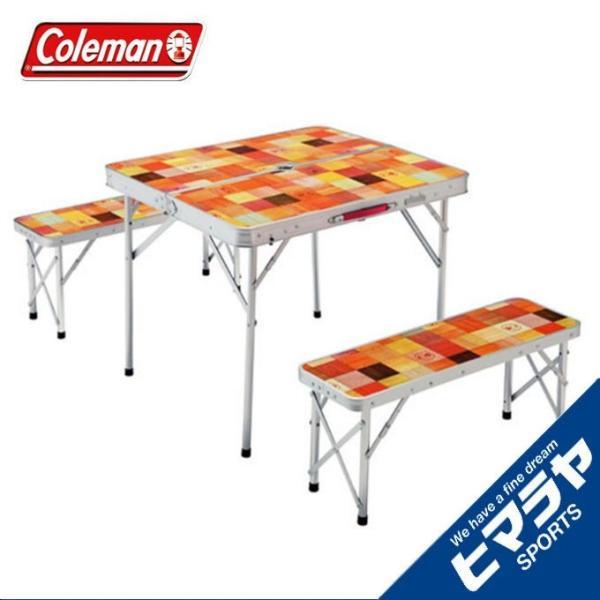 RoomClip商品情報 - コールマン テーブル ベンチセット ナチュラルモザイク ファミリーリビングセット/ミニプラス 2000026758  coleman