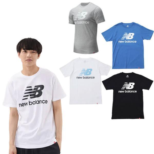 ニューバランスTシャツ半袖メンズ574collectionエッセンシャルズスタックドロゴショートスリーブTシャツMT01575n