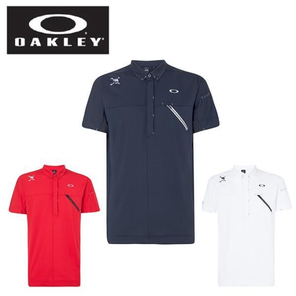 オークリーゴルフウェアポロシャツ半袖メンズSkullRearMessageShirtsスカルリアメッセージシャツFOA40079