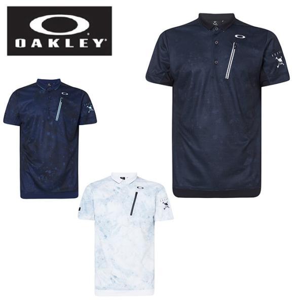 オークリーゴルフウェアポロシャツ半袖メンズSkullLiquidPoloスカルポロFOA400794OAKLEY