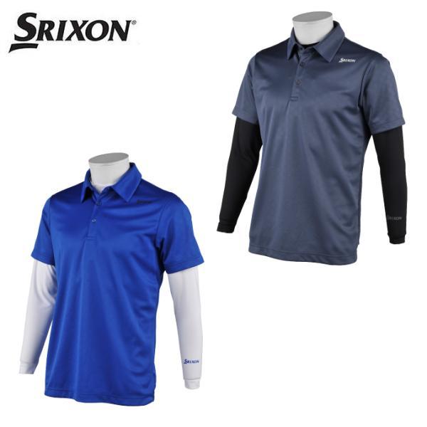 スリクソン SRIXON ゴルフウェア シャツセット メンズ クロスエンボス半袖ポロ+インナーセット RGMRJA06W