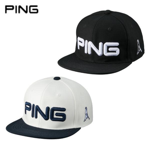ピンPINGゴルフキャップメンズフラットビルHW-U213