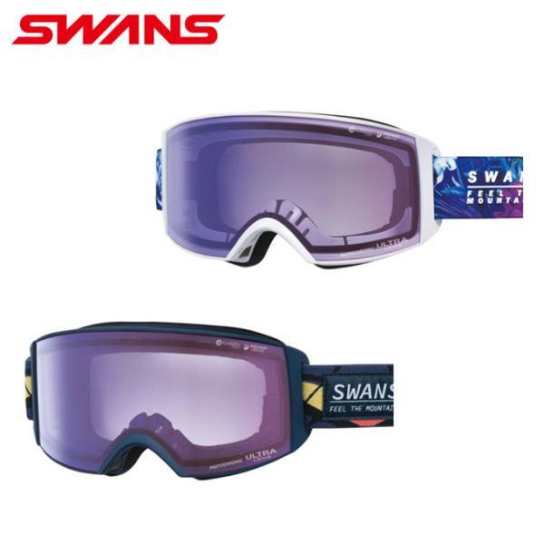 スワンズ SWANS スキー スノーボードゴーグル 眼鏡対応 メンズ レディース ULTRA調光レンズ メガネ対応 ラカン RACAN-MDH-CU