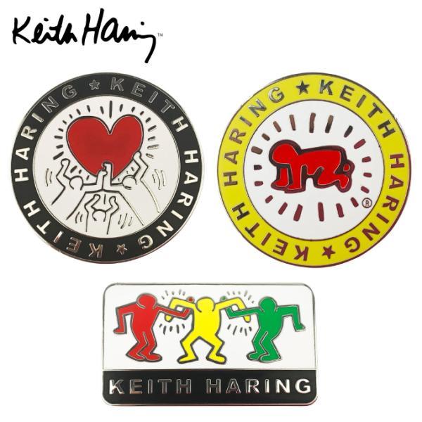 キースヘリング Keith Haring ゴルフ マーカー クリップマーカー 2個セット Holding Heart × Baby KHBM-01