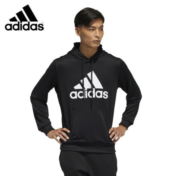 アディダス パーカー メンズ マストハブ 21 プルオーバー スウェット GN0827 JKL50 ブラック adidas スウェットパーカー ビッグロゴ