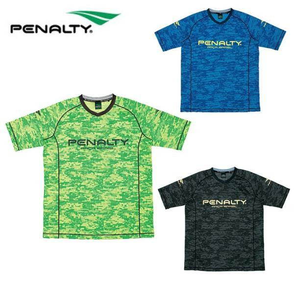 ペナルティー Penalty サッカーウェア プラクティスシャツ 半袖 メンズ ベンチレーションカモ・ロゴTシャツ PU8006 sc|himarayasc