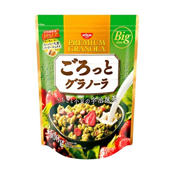日清シスコ ごろっとグラノーラ いちごと小豆の宇治抹茶 500g|himejiryutsuu