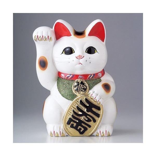 招き猫 白小判猫4号右手 貯金箱 ...