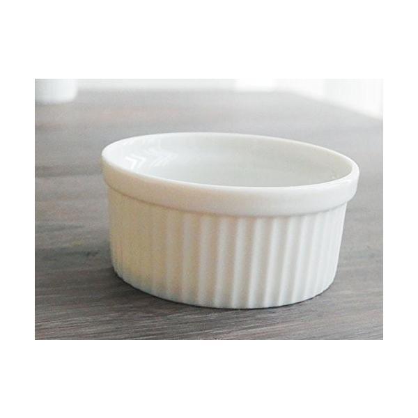 洋食器 アウトレット ココット 白い食器のスフレカップ 8cm デザート スイーツ ディップ プリン オシャレ|himetomaro|03