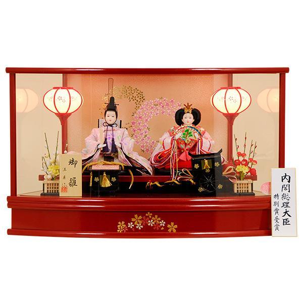 雛人形 ひな人形 K104 コンパクト 人形の佳月 雛人形 雛 ケース飾り 雛 親王飾り 雛名匠・逸品飾り 高級品 【2021年新作】