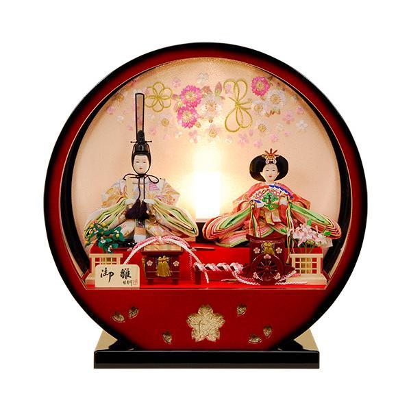 雛人形 ひな人形 K117 コンパクト 人形の佳月 雛人形 雛 ケース飾り 雛 親王飾り 雛名匠・逸品飾り 高級品 【2021年新作】