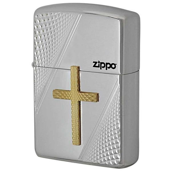 ZIPPO ジッポーライター メタル貼り アーマー ZIPPO クロスメタル PC 彫刻 両面加工 銀イブシ 男女兼用|hinohikari-ii