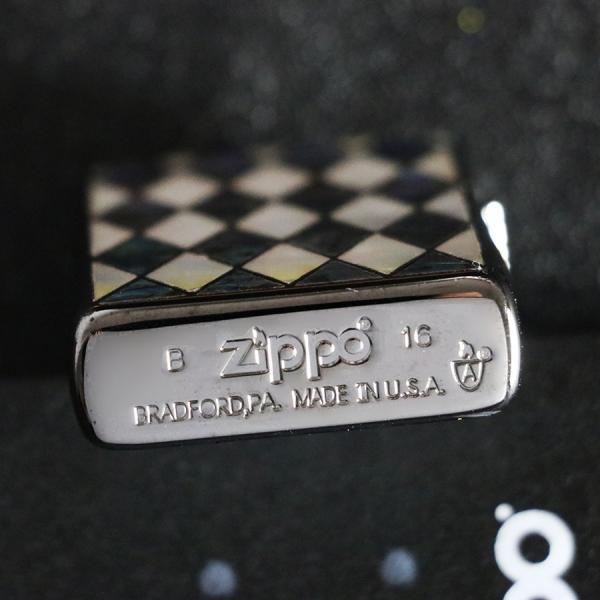 ZIPPO ジッポー オイルライター 天然貝象嵌 アーマー 16sh-a|hinohikari-ii|04