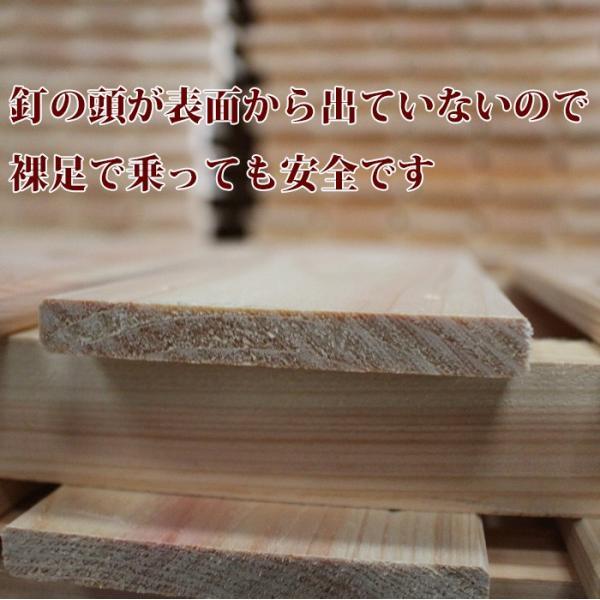 すのこ サイズ 90cm×30cm 国産ひのき板 DIY スノコ 桧 ヒノキ 檜 ベランダ 押入れ|hinokiya-pro|11