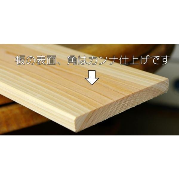すのこ板 国産ひのき 120cm 節あり 5枚セット DIY 板材 木材 桧 ヒノキ 檜 工作|hinokiya-pro|02