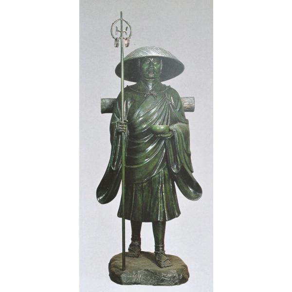 弘法大師像 50号 般若純一郎作品 高岡銅器の神仏具/送料無料|hinokiyashop