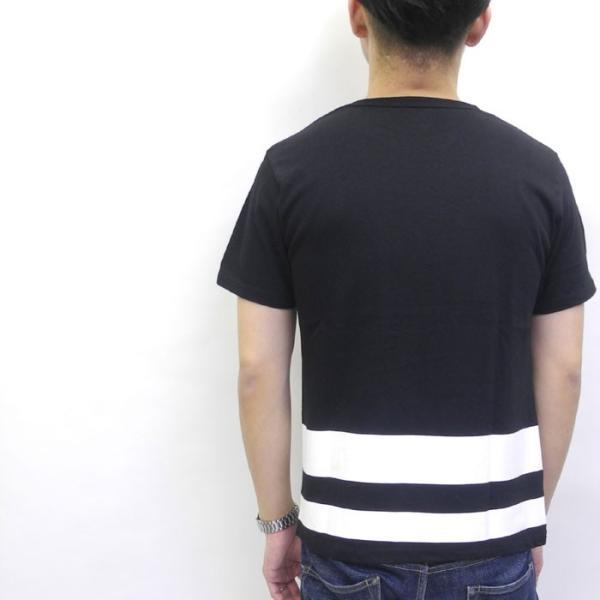MOMOTARO JEANS 桃太郎ジーンズ 5.2oz S/S POCKET T-SHIRT 『ジャパンライン』 07-010|hinoya-ameyoko|02