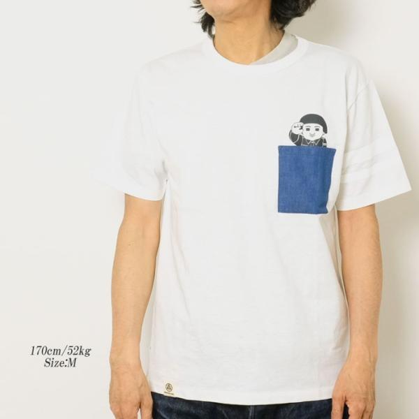 MOMOTARO JEANS (桃太郎ジーンズ)  Lot.07-066 8.2オンス デニムポケット Tシャツ 07-066|hinoya-ameyoko|02
