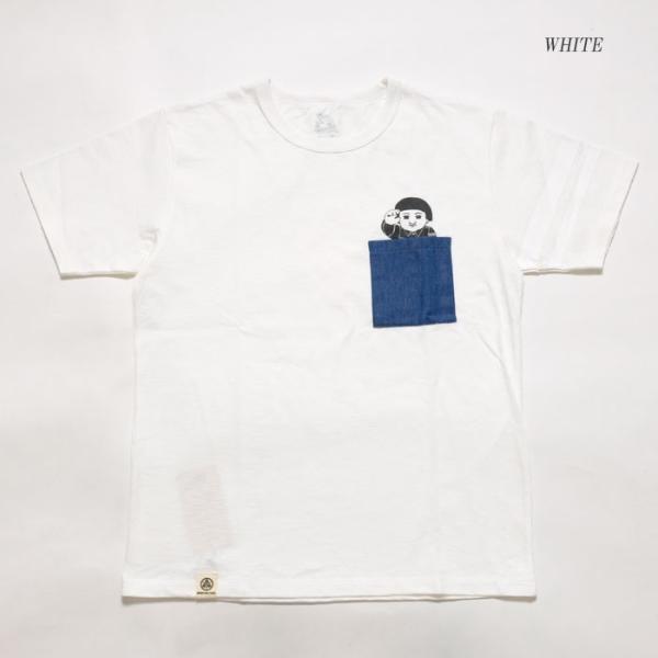MOMOTARO JEANS (桃太郎ジーンズ)  Lot.07-066 8.2オンス デニムポケット Tシャツ 07-066|hinoya-ameyoko|03
