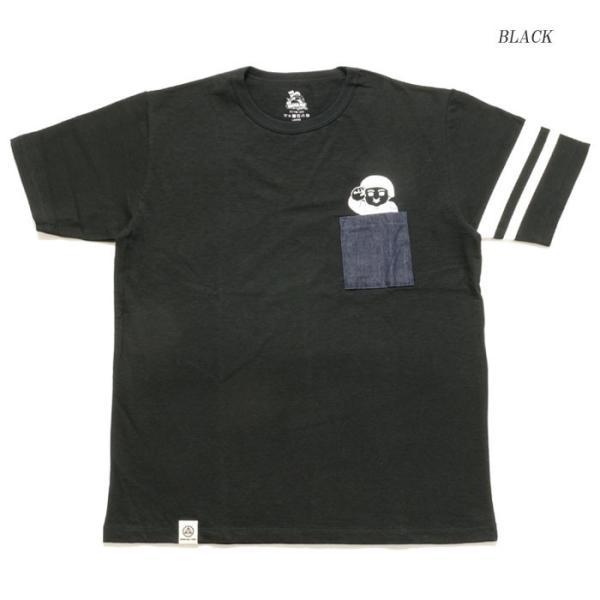 MOMOTARO JEANS (桃太郎ジーンズ)  Lot.07-066 8.2オンス デニムポケット Tシャツ 07-066|hinoya-ameyoko|04