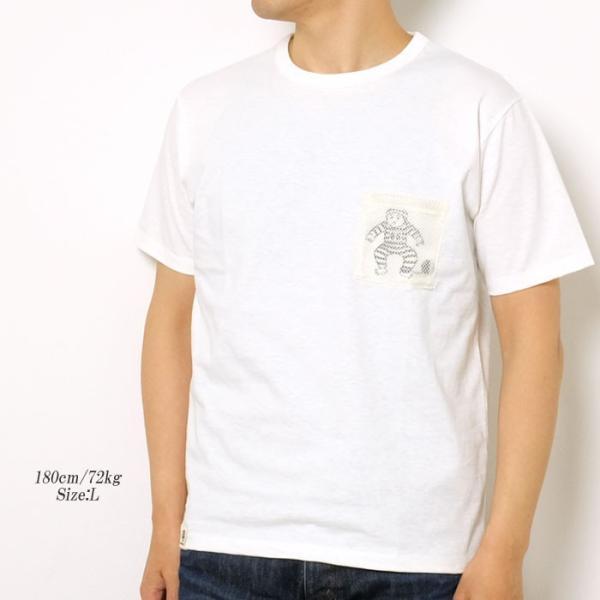 MOMOTARO JEANS (桃太郎ジーンズ)  Lot.07-067 8.2オンス メッシュポケット Tシャツ 07-067|hinoya-ameyoko|02