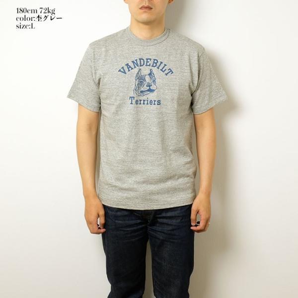 "WAREHOUSE(ウエアハウス) Lot.4601 半袖Tシャツ ""TERRIERS"" 4601TER-19|hinoya-ameyoko|02"