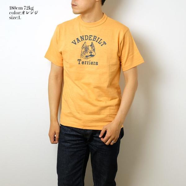 "WAREHOUSE(ウエアハウス) Lot.4601 半袖Tシャツ ""TERRIERS"" 4601TER-19|hinoya-ameyoko|03"