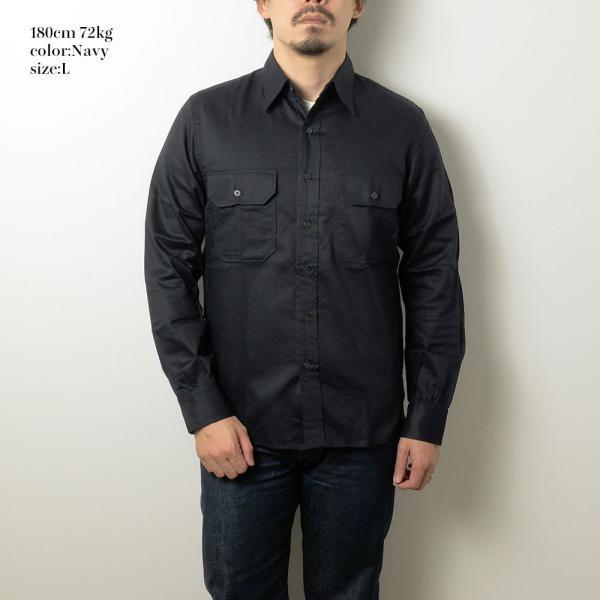BURGUS PLUS(バーガスプラス) ミリタリーツイルシャツ BP16505|hinoya-ameyoko|02