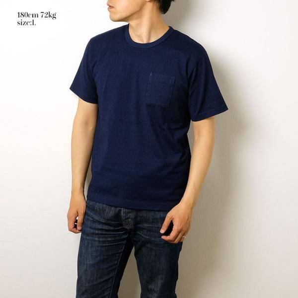 BURGUS PLUS バーガスプラス 半袖インディゴTシャツ ワンウォッシュ BP19602|hinoya-ameyoko|02