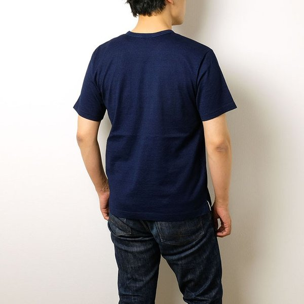 BURGUS PLUS バーガスプラス 半袖インディゴTシャツ ワンウォッシュ BP19602|hinoya-ameyoko|03