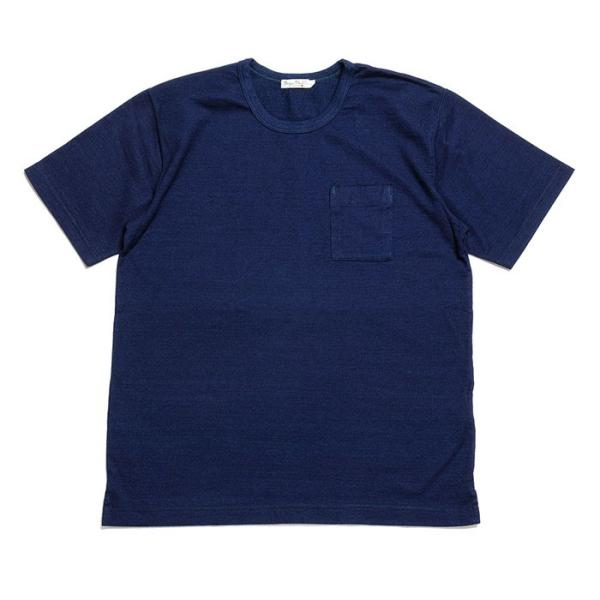 BURGUS PLUS バーガスプラス 半袖インディゴTシャツ ワンウォッシュ BP19602|hinoya-ameyoko|04