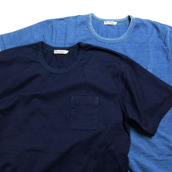BURGUS PLUS バーガスプラス 半袖インディゴTシャツ ワンウォッシュ BP19602|hinoya-ameyoko|08