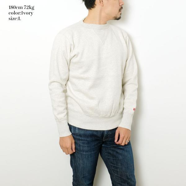 HINOYA (ヒノヤ) セットイン クルーネック  スウェット H-0088 hinoya-ameyoko 04