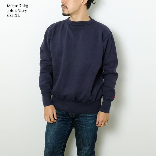 HINOYA (ヒノヤ) セットイン クルーネック  スウェット H-0088 hinoya-ameyoko 06