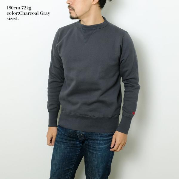 HINOYA (ヒノヤ) セットイン クルーネック  スウェット H-0088 hinoya-ameyoko 09