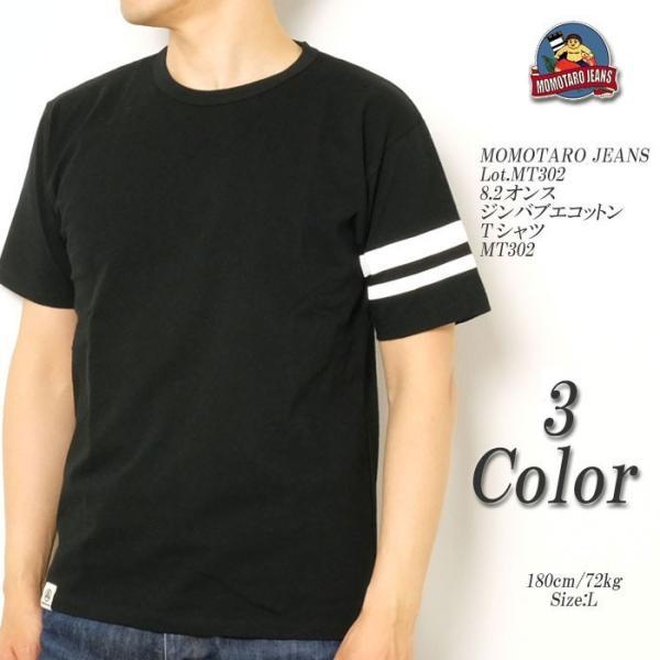 MOMOTARO JEANS (桃太郎ジーンズ)  Lot.MT302 8.2オンス ジンバブエコットン Tシャツ MT302 hinoya-ameyoko