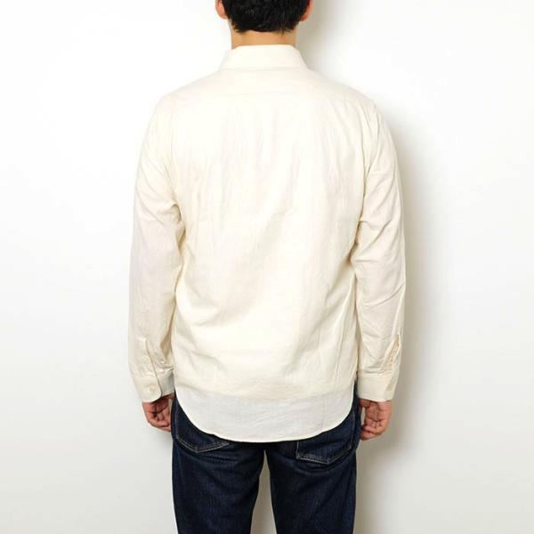 SUGARCANE(シュガーケーン) ホワイト シャンブレー 長袖ワークシャツ SC27851|hinoya-ameyoko|04