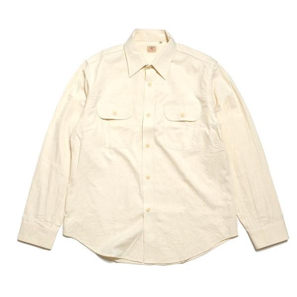 SUGARCANE(シュガーケーン) ホワイト シャンブレー 長袖ワークシャツ SC27851|hinoya-ameyoko|05