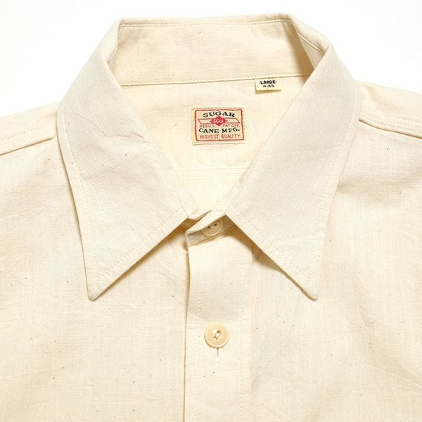 SUGARCANE(シュガーケーン) ホワイト シャンブレー 長袖ワークシャツ SC27851|hinoya-ameyoko|06