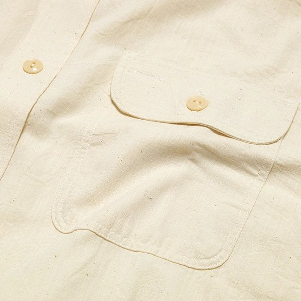 SUGARCANE(シュガーケーン) ホワイト シャンブレー 長袖ワークシャツ SC27851|hinoya-ameyoko|07
