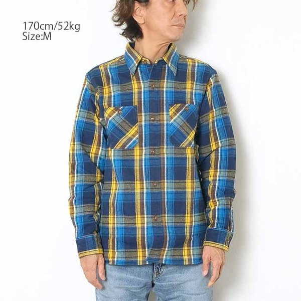 SUGARCANE(シュガーケーン) ツイルチェック 長袖ワークシャツ SC28238|hinoya-ameyoko|02