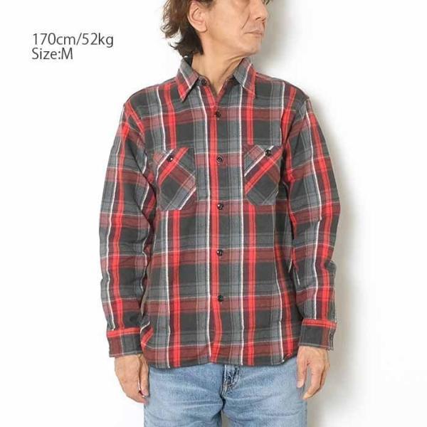 SUGARCANE(シュガーケーン) ツイルチェック 長袖ワークシャツ SC28238|hinoya-ameyoko|04