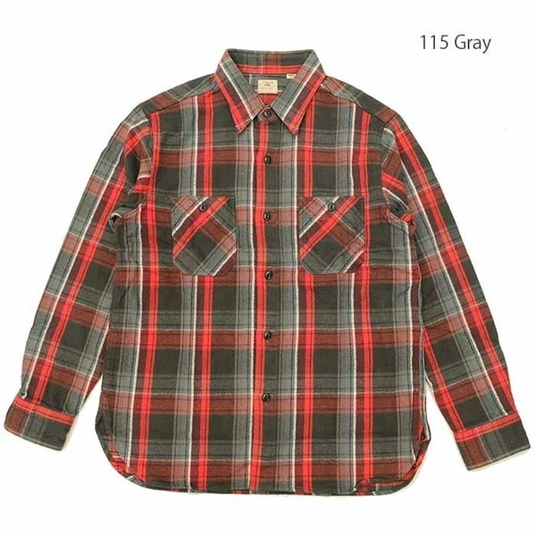 SUGARCANE(シュガーケーン) ツイルチェック 長袖ワークシャツ SC28238|hinoya-ameyoko|06