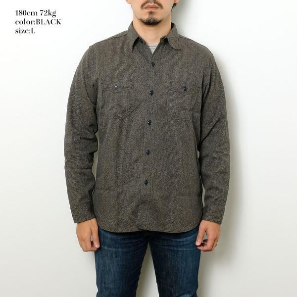 SUGARCANE(シュガーケーン) フィクションロマンス 6.5オンス インディゴ ビーチクロス ワークシャツ SC28283|hinoya-ameyoko|02