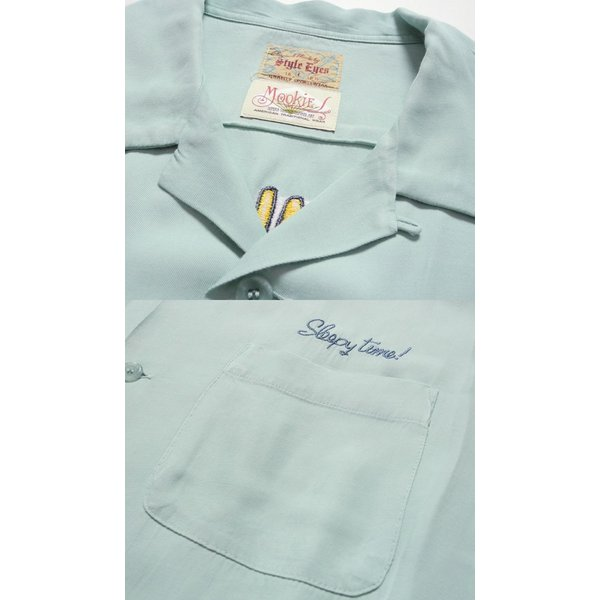 STYLE EYES(スタイルアイズ) 長袖レーヨンオープンシャツ