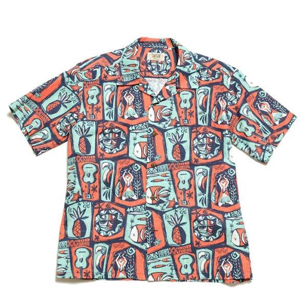 SUN SURF(サンサーフ) by MASKED MARVE コットン リネン ホップサック オープンシャツ